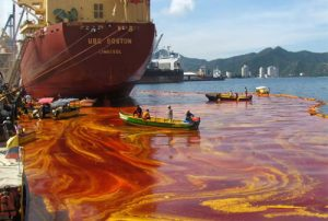 Contaminacion aceite agua